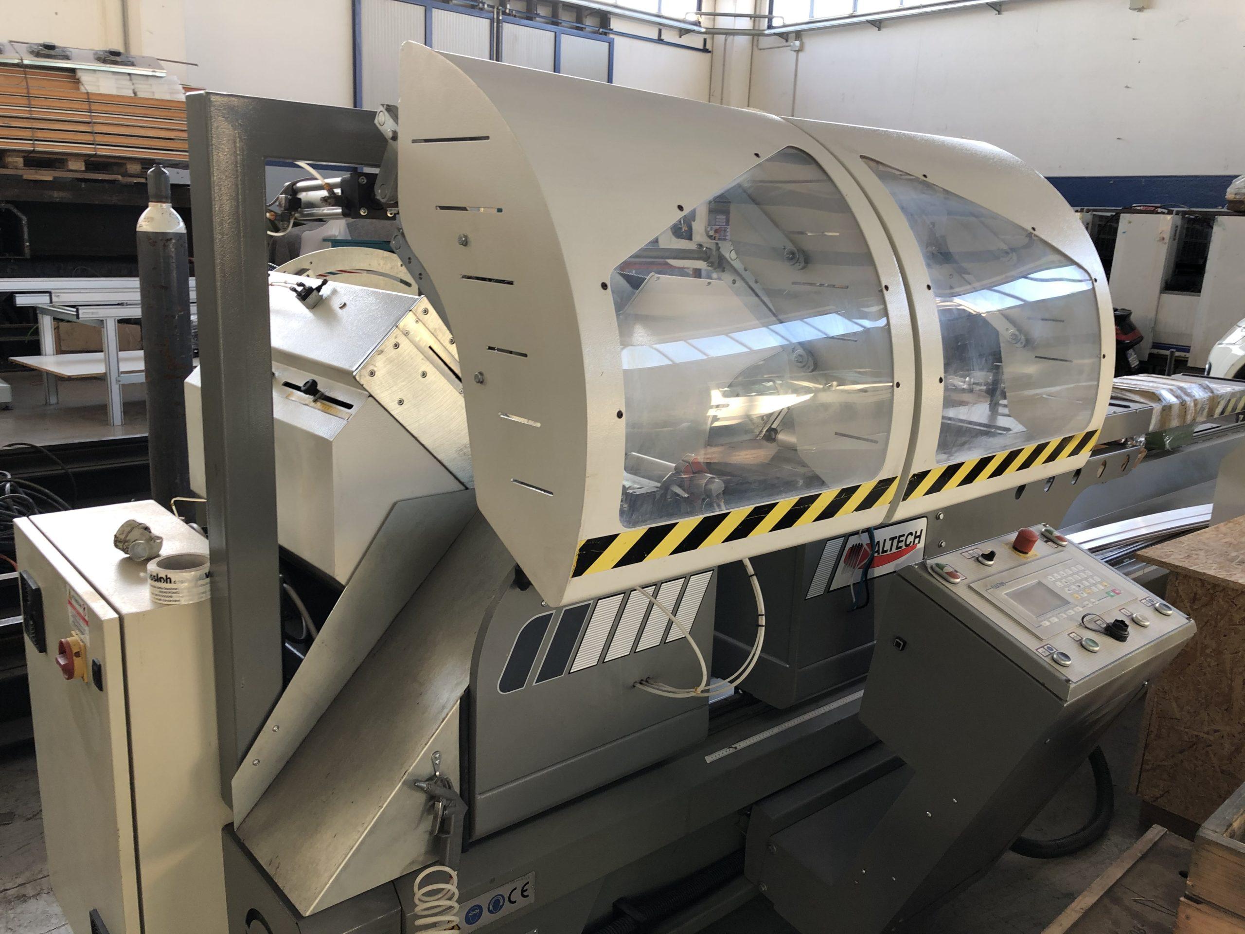 TRONCATRICE A DUE TESTE CNC 4 MT ALTECH MOD- MASTER P-550 ...